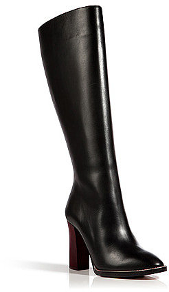 CHLOÉ Leather Boots in Black-Multi