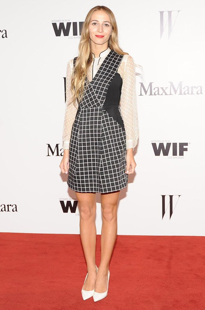 Harley Viera-Newton at the Max Mara Face of the Future party in Beverly Hills.  Photo courtesy of Owen Kolasinski/BFAnyc.com