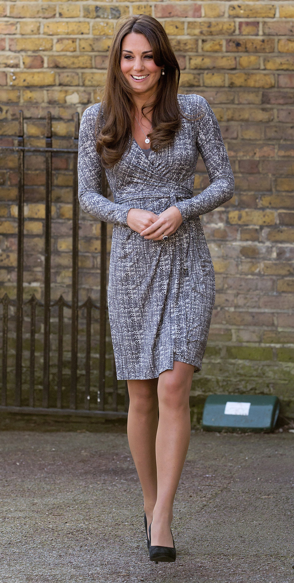 In February 2013, Kate visited Hope House in London after taking a short vacation with her family and Prince William.