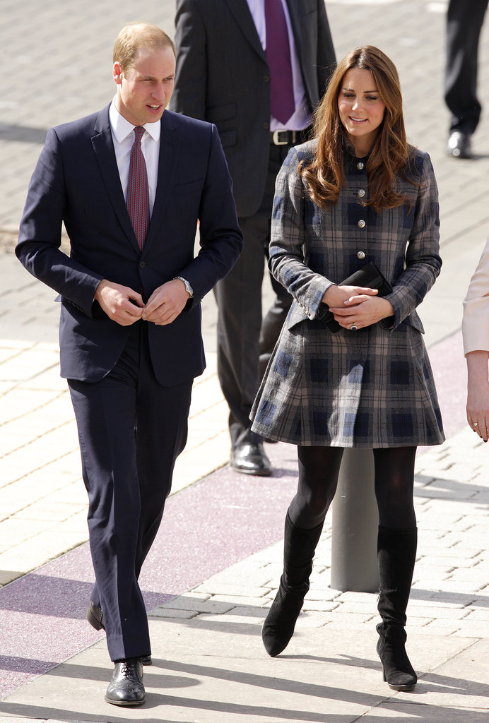 Kate Middleton and Prince William linked up in Glasgow, Scotland, on April 4 to tour a new sporting arena.