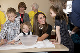 On March 19, Kate Middleton cheered up recently bereaved children at the Child Bereavement center in Saunderton, England.