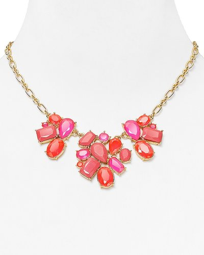 kate spade new york Crystal Fiesta Mini Bib Necklace, 16""