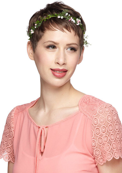 Your pixie haircut will get the pixie fairy treatment with ModCloth's Backyard Festival Headband ($19).