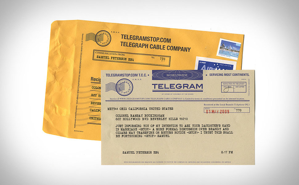 Old-School Telegram