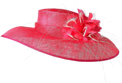 Linea Downturned wide feather hat