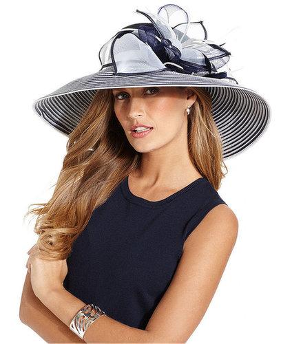 August Hat, Garnet Extra Wide Brim Church Hat