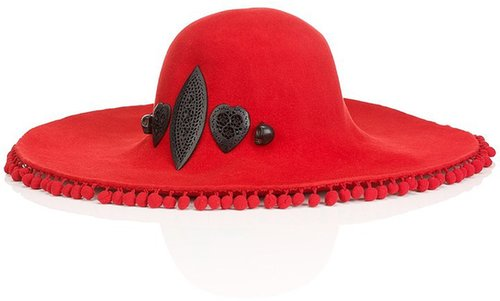 Littledoe Cherry Pom Pom Skull Hat