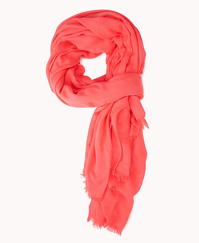 FOREVER 21 Frayed Neon Scarf
