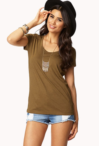 FOREVER 21 Basic Slouchy Tee