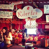 The Fuse Barn was set up like a Winter wonderland and kitted out like a complete Christmas-themed dance club. They even served Roberta's pizza, straight from NY! Source: Instagram user popsugarfashion