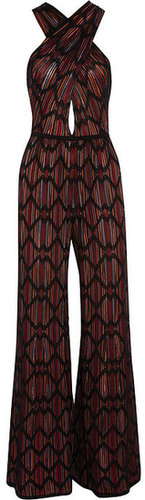 M Missoni Wide-leg cotton-blend crochet-knit jumpsuit