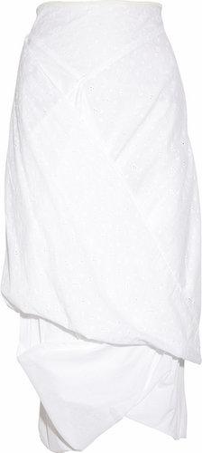 Vivienne Westwood Anglomania Eight asymmetric cotton midi skirt