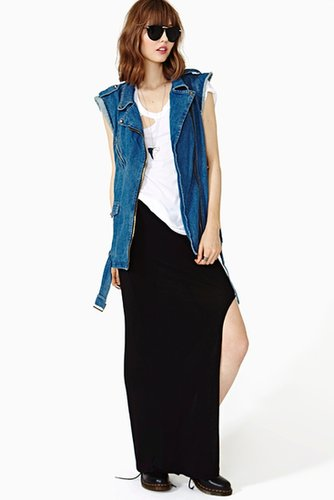 Highway Maxi Skirt - Black