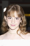 Brushed-out waves embellished with a flower comprised Emma's look for the 2002 premiere of Scooby-Doo in London.