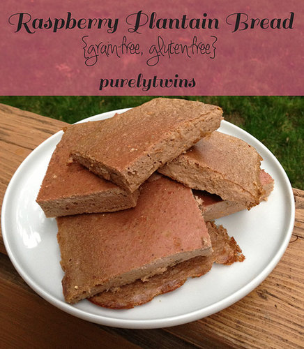 Raspberry plantain bread