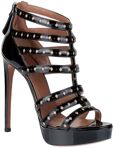 Alaïa Patent leather cage sandal