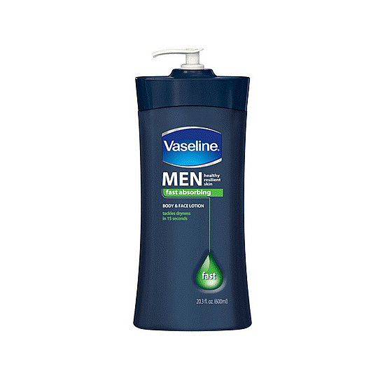 Two-for-one deals are fairly standard when it comes to men's grooming, like Vaseline Men's Face and Body Lotion ($6). If you have dry skin, then this is a perfect product to use all over your body. So quit messing around with numerous lotions, and play like the boys by moisturizing all over in one shot.
