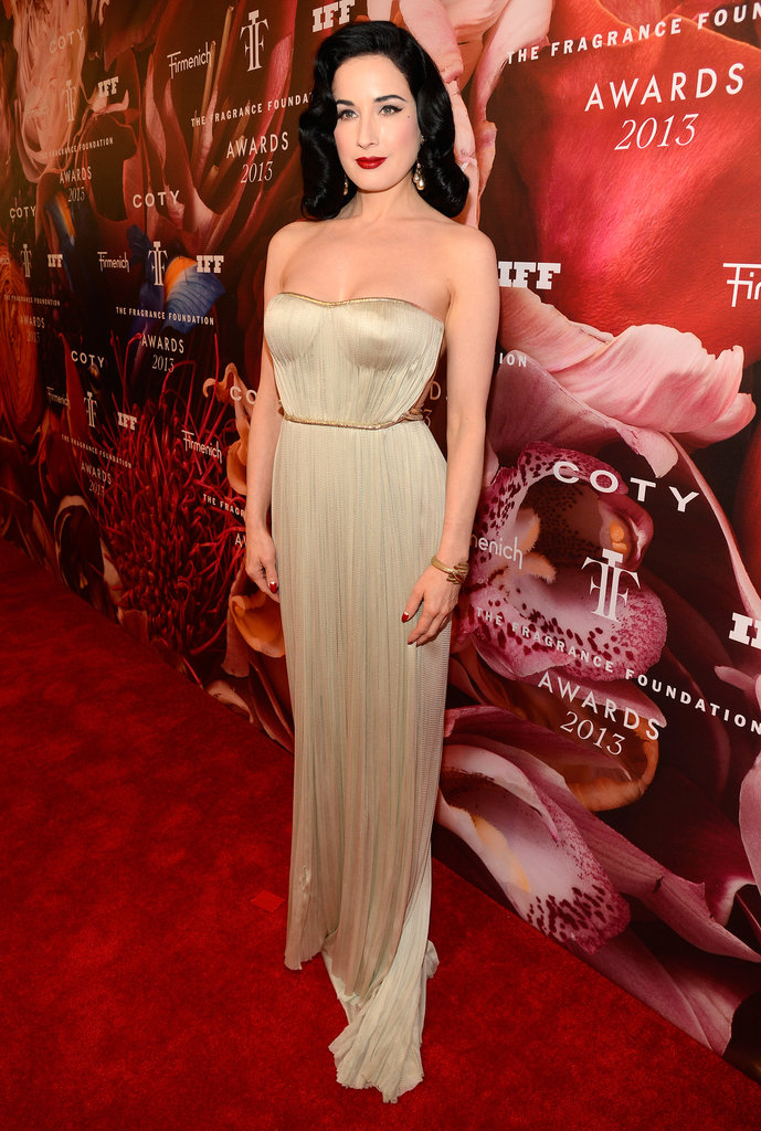 Dita Von Teese at the 2013 Fragrance Foundation Awards in New York.