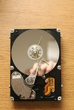 Recycled Hard Drive Clock