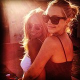 Renee Bargh stole some time with birthday girl and close friend Claire Holt. Source: Instagram user reneebargh