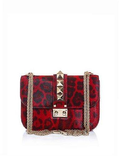Valentino The lock ponyskin shoulder bag