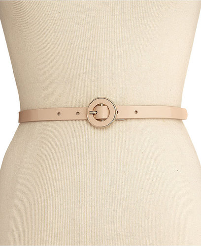 Nine West Belt, Skinny Patent Panel with Centerbar Buckle