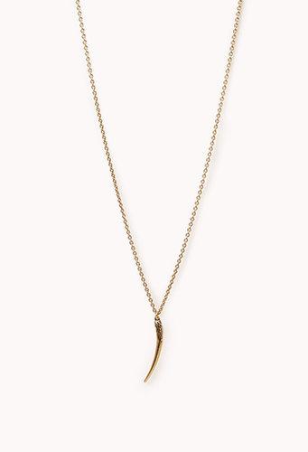 FOREVER 21 Antiqued Tusk Necklace