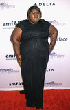 Gabourey Sidibe wore a black gown.