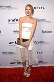 Dree Hemingway looked cute in a white dress.