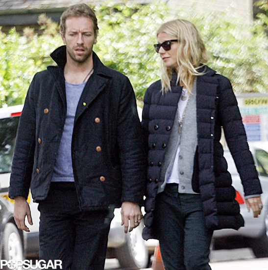 Gwyneth Paltrow took a stroll with her husband, Chris Martin.