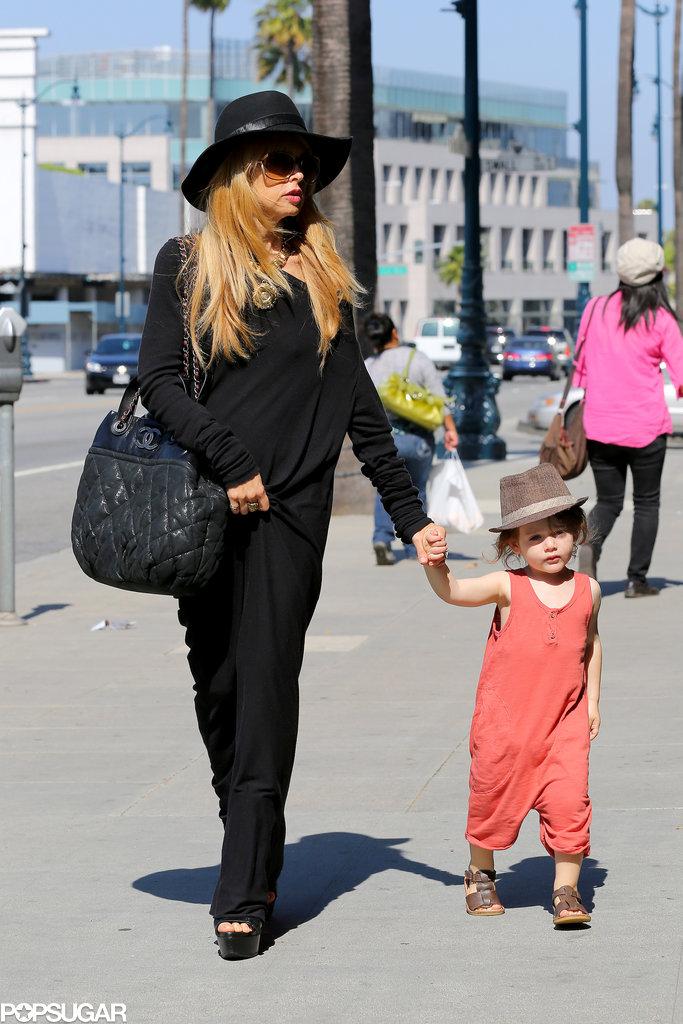 Rachel Zoe held onto Skyler Berman's hand.