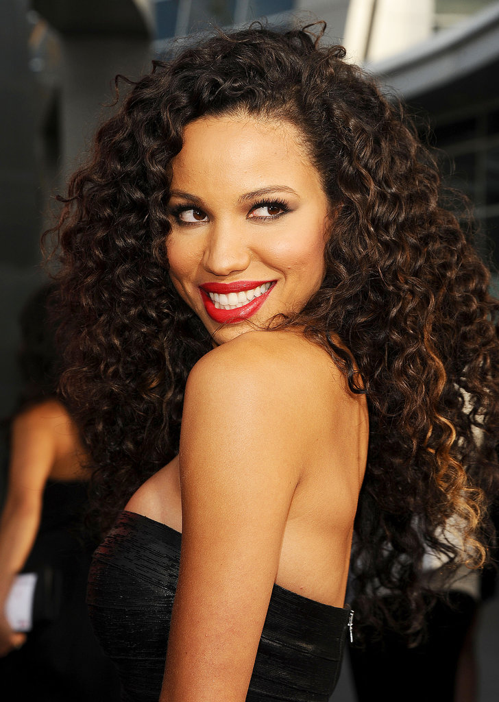 Jurnee Smollett-Bell was also out at the True Blood premiere wearing her natural texture paired with a glamorous red lip.