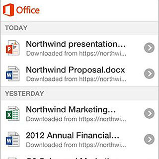 Microsoft Office iPhone App