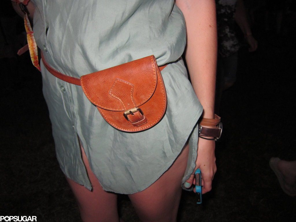 We love how compact but structured this Bonnaroovian's belt bag was.