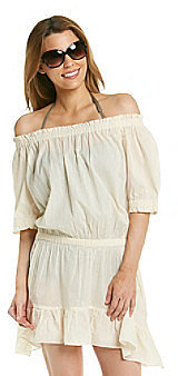 """MICHAEL Michael Kors® """"Solid Cover Ups"""" Off The Shoulder Coverup Dress"""