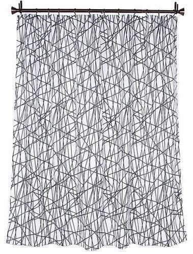 InterDesign - Abstract Shower Curtain (Black/White) - Home