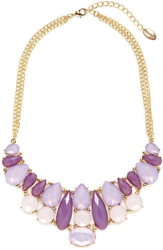 Purple Multi Bib Necklace