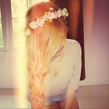 This girl's crown of flowers is a perfect accessory for festival season. Source: Instagram user girlyy_outfits