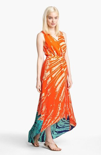 Presley Skye Print High/Low Maxi Dress