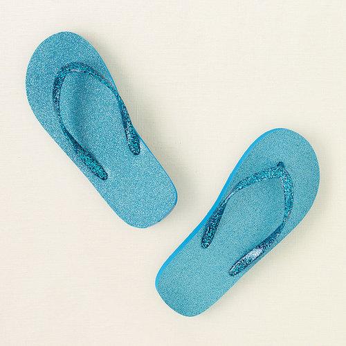 Glitter flip flops