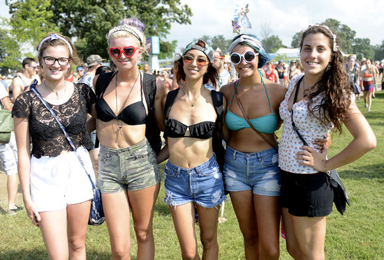 Waves, headbands, and low-key makeup are a great way to heighten your festival style.