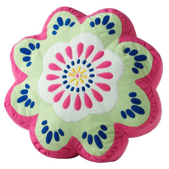 Use this flower pillow ($20, originally $35) to add bright colors to a crib or rocking chair.