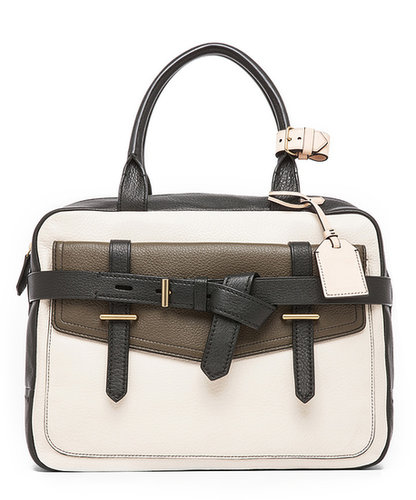 Reed Krakoff Fighter Pebble Grain with Canvas in Surplus Multi