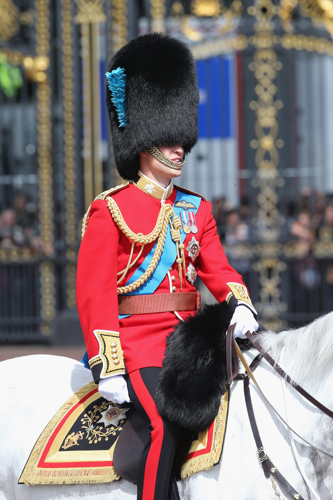 Prince William participated in the Trooping the Colour ceremony.