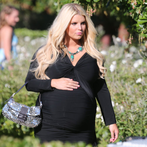 Jessica Simpson Pregnant at a Wedding in San Diego