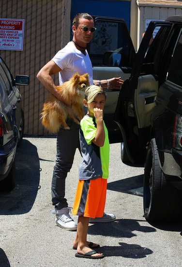 Gavin Rossdale took his boys, Kingston and Zuma, shopping at Mark's Tropical Fish in Studio City on Father's Day.