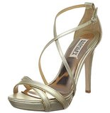 Strappy and gold, these Badgley Mischka gold sandals ($80-$175, originally $175) are the quintessential bridesmaid heel.