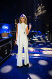 Another night on The Voice, another iconic Australian designer on the small screen. Delta turned to Carla Zampatti for this elegant white jumpsuit.