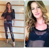 Gisele Bündchen shared pictures of her modeling her lingerie line on Instagram. Source: Instagram user giseleofficial