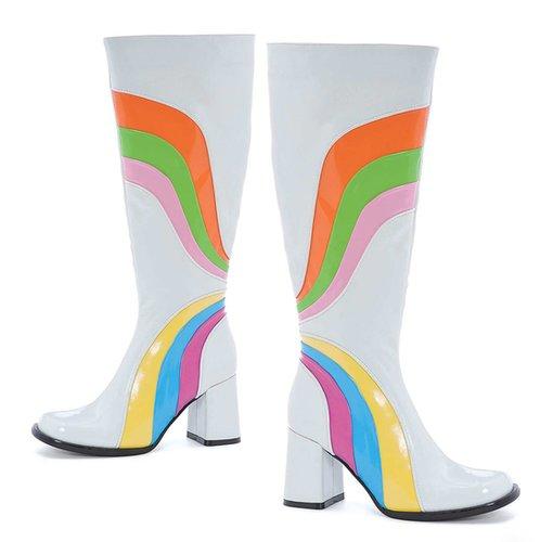 "Ellie Shoes E-300-Jiggy, 3"" Knee High Boots with Zipper-Satin-Boutique.com"